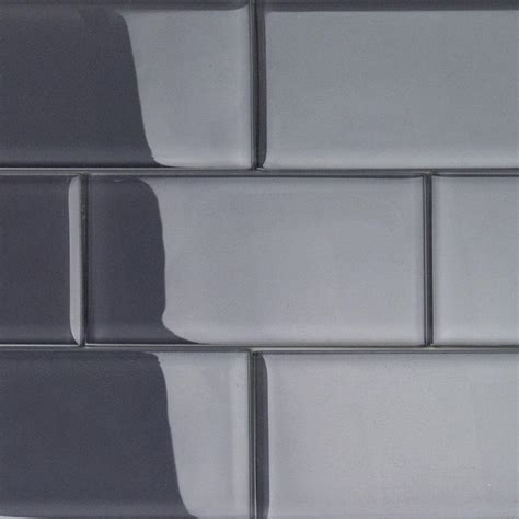 smoke glass subway tile 3x6 for backsplashes showers more splashback tile contempo smoke gray polished 3 in x 6 in