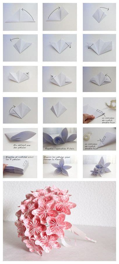 Diy Origami Bouquet - diy paper flower bouquet cards paper projects