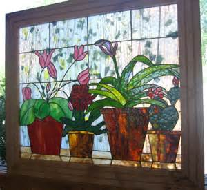 Window Potted Plants Pin By Rossiter On Stained Glass