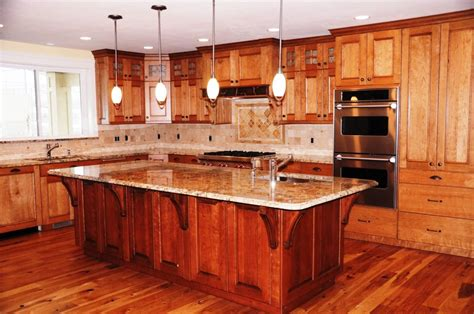 Kitchen Island Cabinets Custom Kitchen Cabinets And Kitchen Island Made From Cherry Wood Custom Designed Built And