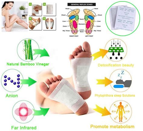 Relief Detox Foot Pads by Buy Detox Foot Pads Patches With Adhesive Bamboo Pad