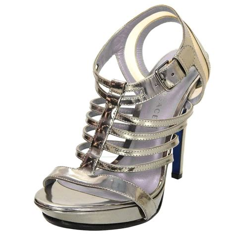 versace sandals sale versace silver caged sandals sz 37 for sale at 1stdibs