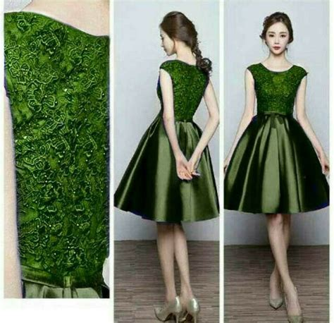 Brokat Brukat Bahan Kain Kebaya Dress Gaun Gamis Biru Mint P7 mini dress satin brokat fashion dresses