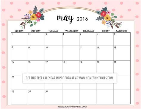 printable planner free 2016 cute free printable 2016 calendars home printables