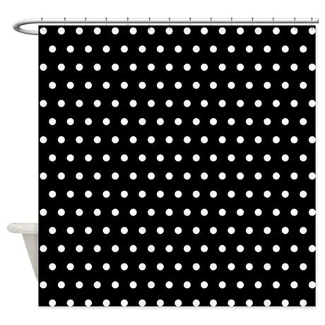 black white polka dot curtains black polka dot shower curtain by creativeconceptz
