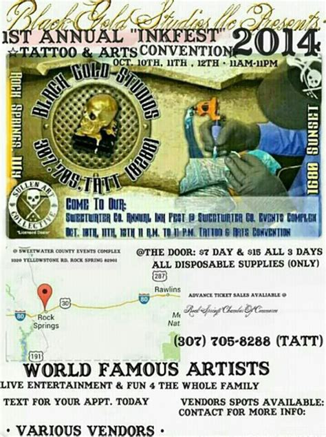 tattoo convention rock springs wy inkfest a three day tattoo convention so big only the