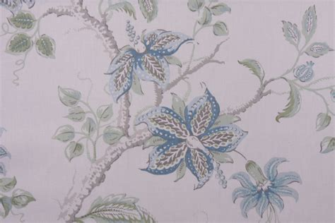 printed upholstery fabric robert allen meadow view printed cotton drapery fabric in aqua