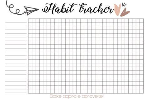 printable habit tracker bullet journal download habit tracker bruna monteiro blog