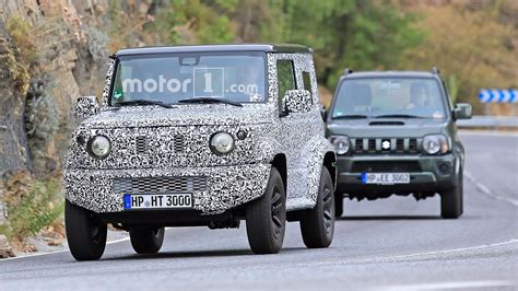 suzuki jimny new generation next suzuki jimny spied testing with current model