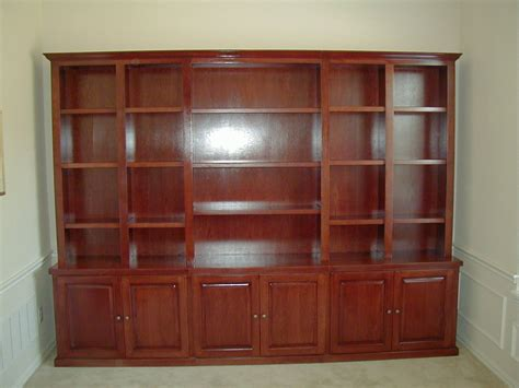 cherry wood bookcase with doors bookcases fiorenza custom woodworking