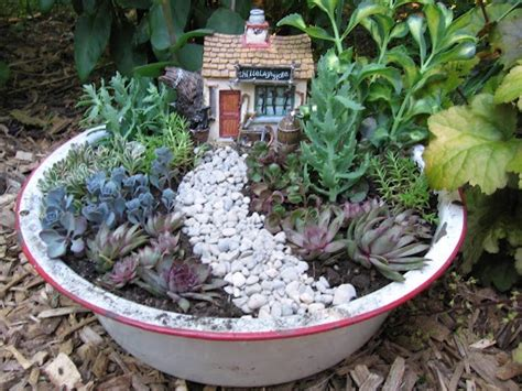 Garden Using Dishes Dish Garden Dish And Gardens