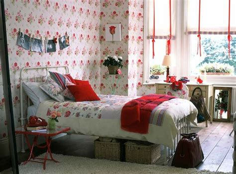 red wallpaper bedroom ideas floral bedroom furniture with wallpaper ideas