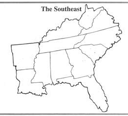 blank map of southeastern united states southeastern united states outline map