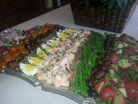 ina garten nicoise poached salmon nicoise salad how to nicoise salad