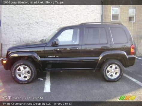 black jeep liberty 2002 black 2002 jeep liberty limited 4x4 taupe interior