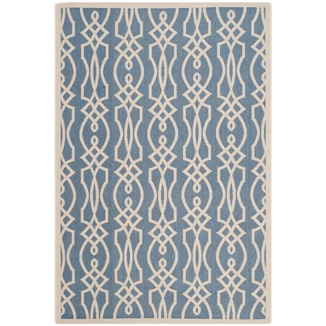 Martha Stewart Indoor Outdoor Rugs Safavieh Martha Stewart Azurite 6 Ft 7 In X 9 Ft 6 In Indoor Outdoor Area Rug Msr4220 233 6