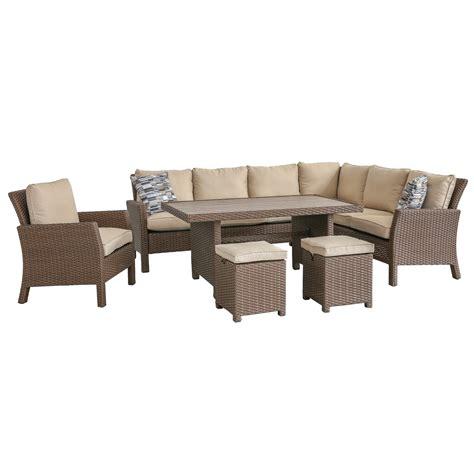 piece outdoor patio furniture set arcadia rc willey