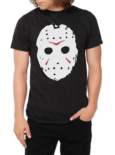 T Shirt Crossover Merch Hearts friday the 13th mask slim fit t shirt topic fandom