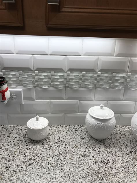 accent tiles for kitchen backsplash kitchen backsplash 3x6 white subway tile with deco accent