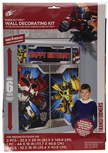 transformers scene setters wall decorating kit birthday