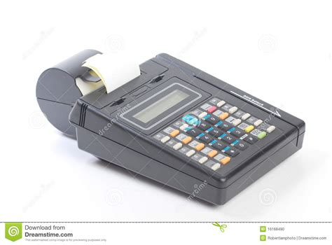 Cash For Your Gift Card Machine - cash on credit card machine stock photo image 16168490