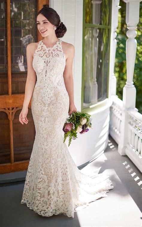 Dress Martine boho wedding gown with graphic lace martina liana