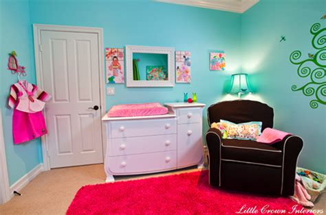 hot pink and blue bedroom hot pink rug contemporary nursery little crown interiors