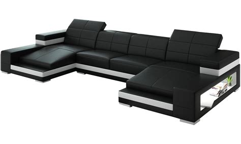 double chaise double leather chaise sectional with ergonomic back and