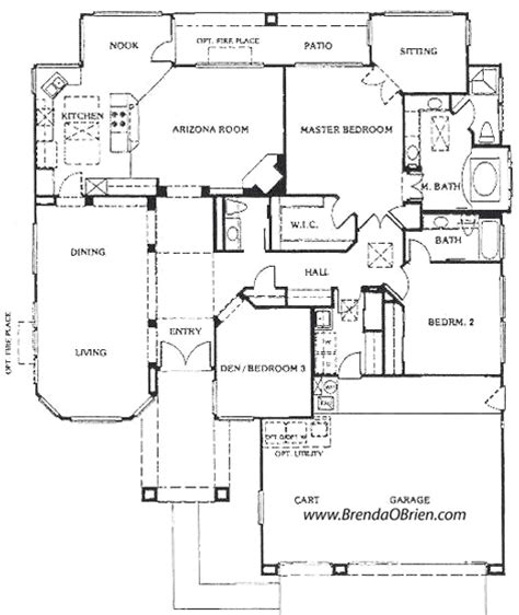 Great Floor Plans by Sun City Vistoso Floor Plan Ridgetop Model