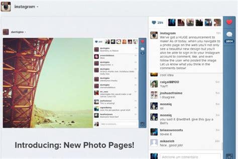 layout para instagram online instagram ganha nova vers 227 o para web