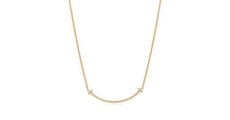 what is a tiffany l tiffany t smile pendant in 18k gold with diamonds mini