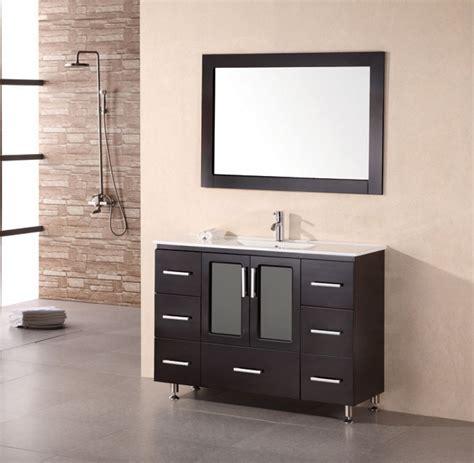 48 inch bathroom vanity 48 inch modern single sink bathroom vanity in espresso