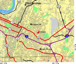 Chattanooga Zip Code Map by Chattanooga Tn Zip Code Map Images