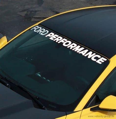 Scheiben Aufkleber Windschutzscheibe by 15 18 Ford Mustang Aufkleber Windschutzscheibe Ford