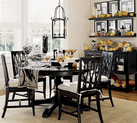 Halloween Party Decorations For Adults Green Or Orange Black Dining Room Furniture Decorating Ideas