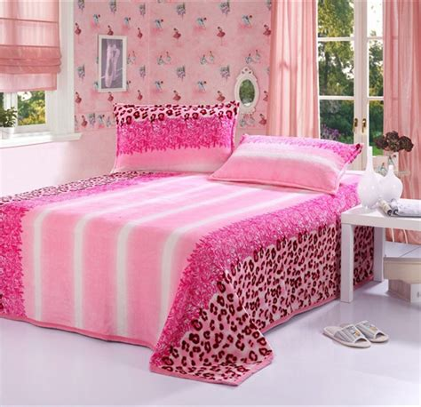 Pink Leopard Print Crib Bedding Aliexpress Buy Pink Leopard Print Flannel Blanket Bedding Soft Baby Blanket Bed
