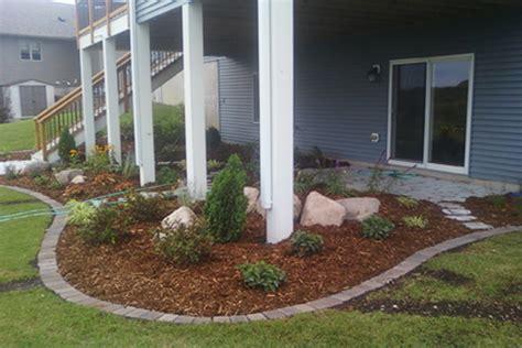 Home Designs Plus Rochester Mn by Under Deck Perennial Garden Rocksolidlandscape Com