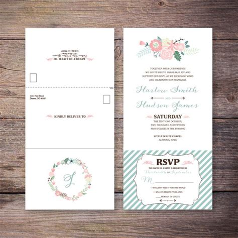 inexpensive seal and send wedding invitations