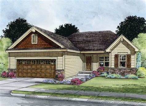eplans ranch eplans ranch house plan three bedroom craftsman ranch