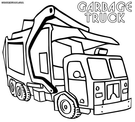 Coloring Page Garbage Truck by Garbage Truck Coloring Pages Coloring Home