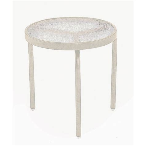tradewinds outdoor furniture tradewinds 18 in antique bisque commercial acrylic top