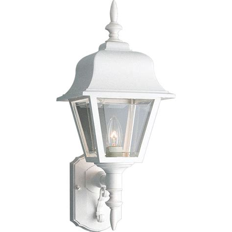 home depot outdoor lighting white progress lighting 1 light white outdoor wall lantern p5656