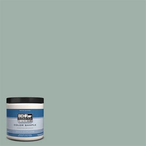 behr premium plus ultra 8 oz hdc ct 22 aged jade interior exterior satin enamel paint sle