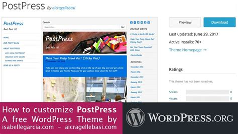 theme wordpress video youtube free learn how to customize postpress free wordpress theme
