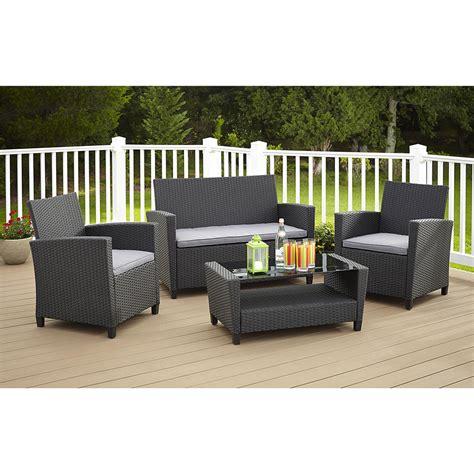 outdoor table sets sale cosco outdoor malmo resin wicker patio conversation