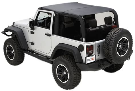 Jeep Wrangler Jk Soft Top Jeep Wrangler Jk 2 Door Soft Top Island Topper W Pockets