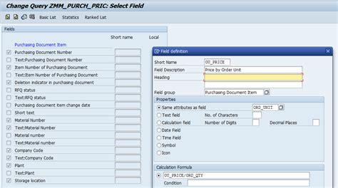 query layout design sap local fields in sap queries