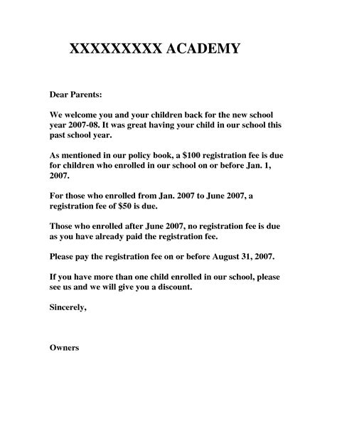 Kindergarten Parent Letter Template 9 best images of kindergarten welcome letter template