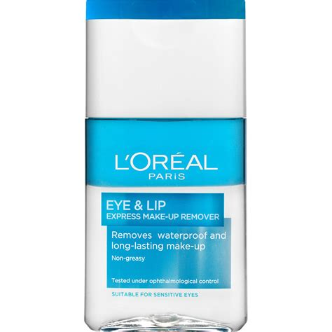 Remover The One Waterproof Eye Make Up loreal eye lip make up remover waterproof lyko se