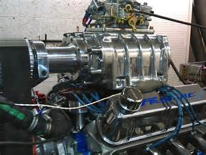 blown small block ford hillclimber engine on dyno
